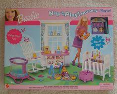 Barbie Nap 'N Play Nursery Playset Fisher Price Mattel 2001 #88814 #Mattel