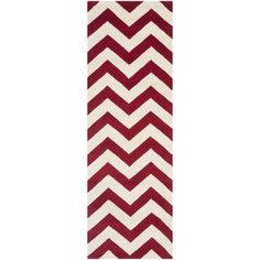 @Overstock - A contemporary chevron design and dense, thick pile highlight this handmade rug inspired by Moroccan patterns with today's updated colors. This floor rug has a red background and displays stunning panel colors of ivory.http://www.overstock.com/Home-Garden/Handmade-Chevron-Red-Ivory-Wool-Rug-23-x-7/7543016/product.html?CID=214117 $85.04