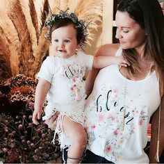 « BLOOM WHERE YOU ARE PLANTED » BODYSUIT - baby onesie - The Pine Torch. Boho baby clothes, matching mommy and me shirts, matching mom and daughter.