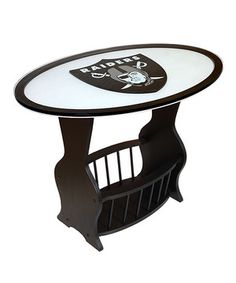 Perfect accents Oakland Raiders End Table on #zulily! #zulilyfinds