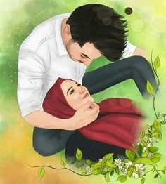 Halal couple pin muslim couples animated ❤ in 201
