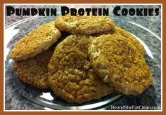 He and She Eat Clean: A Guide to Eating Clean... Married!: Clean Eat Recipe :: Pumpkin Protein Cookies