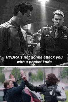 Hmm what's going on HYDRA? >>> Marvel, Marvel...you don't miss anything, do you?