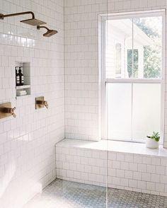 all white bathroom tile #home