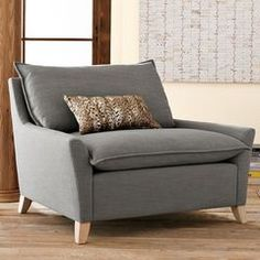 Grey arm chair (West Elm)