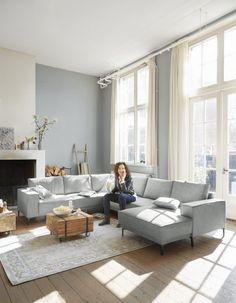 Calira corner sofa from € Profijt Meubel ⋆ Löwik Meubelen Living Dining Room, Interior Wall Colors, Home And Living, Home Living Room, Living Room Decor Apartment, Home, Interior, Best Interior, Home Deco