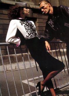 Violetta Sanchez by Helmut Newton for Yves Saint Laurent, 1984