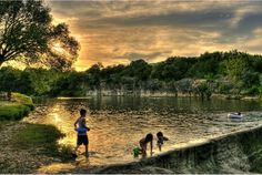 The Blue Hole in Georgetown, Texas is a beautiful swimming hole!
