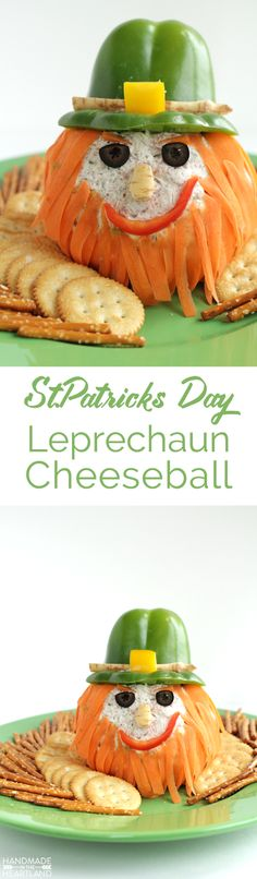 Corned Beef Leprechaun Cheeseball Recipe, the best appetizer for St.Patricks Day!