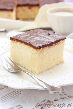 Sernik puszysty jak chmurka /Cheesecake fluffy as cloud Polish Desserts, Polish Recipes, Sweet Recipes, Cake Recipes, Pastry Cake, Food Cakes, Cheesecake, Food And Drink, Cooking Recipes