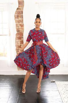 African Print Jumpsuit, African Print Dresses, African Dress, African Clothes, African Prints, African Wear, Hi Low Dresses, Day Dresses, Dresses For Sale