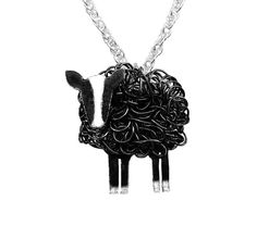 Handcrafted sterling silver and fine silver Zwartbles sheep necklace Horse Jewelry, Animal Jewelry, Handmade Silver Jewellery, Silver Jewelry, Jewelry Gifts, Fine Jewelry, Unique Jewelry, Wire Wrapped Pendant, Jewelry Design