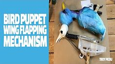 bird puppet wing mechanism - YouTube