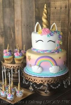 Rainbow Unicorn Cake, Unicorn Cupcakes, Unicorn Cake Pops & Unicorn Cookies - Rainbow Unicorn Cake, Unicorn Cupcakes, Unicorn Cake Pops & Unicorn Cookies – Rainbow Un - Unicorn Cake Pops, Unicorn Cookies, Unicorne Cake, Cake Cookies, Fondant Cakes, Cupcake Cakes, Fondant Girl, Baking Cupcakes, Rainbow Birthday