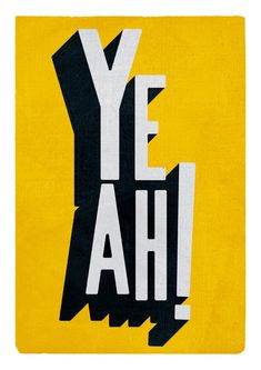 #yeah #type #typography #poster #design