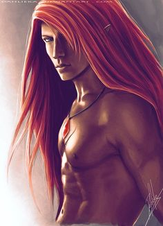 Kind of rare an elf with red hair Fantasy Art Men, Fantasy Artwork, Fantasy World, Dark Fantasy, Illustrations, Illustration Art, Grandeur Nature, Raining Men, Male Beauty