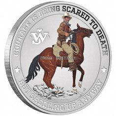 John Wayne 1 oz Pure Silver Coin in Card Tuvalu 2020