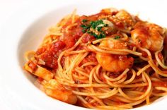 25-Minute #Dinner: Linguine with Spicy Shrimp Sauce #Recipe = HIGH-protein! | via @SparkPeople #pasta