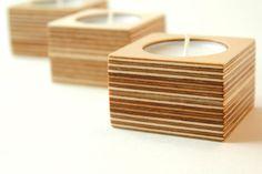 Berken multiplex waxine houders - set van drie door MAATALO op Etsy https://www.etsy.com/nl/listing/248687840/berken-multiplex-waxine-houders-set-van