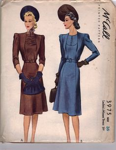 1940's McCall Dress pattern in the collection of Stephanie Pitchers