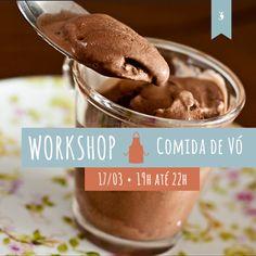 Mousse de chocolate é uma das receitas do curso de comida com gostinho de infância que O Caderno de Receitas promove em 17 de março. Inscreva-se!