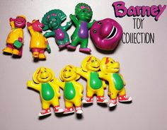 Retro Barney Toy Collection