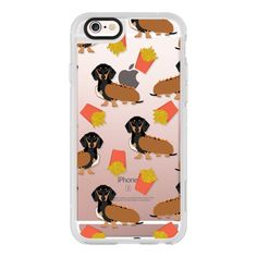 iPhone 6 Plus/6/5/5s/5c Case - Dachshund cute hot dog and french fries... ($40) ❤ liked on Polyvore featuring iphone case