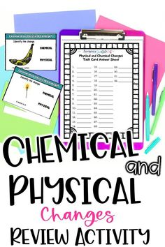 Use this engaging chemical and physical changes activity to review how matter changes in 5th, 6th, and 7th grade science! Students use digital task cards to review what they've learned about chemical and physical changes, their properties, and examples. This physical science activity is perfect for teaching remotely and comes with Google Forms and Boom Learning options!