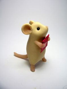 Tall Valentine Mouse with Envelope