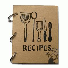 Fun DIY - Make mom a recipe book for Mother's Day