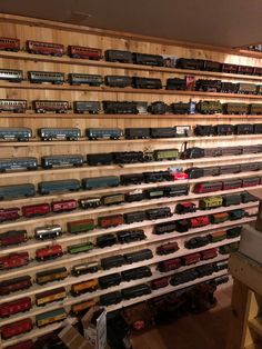 wall in the train Room., Prewar wall in the train Room., Prewar wall in the train Room., RCM for Model Railroader 4 by More Miniature railroad garden by Largest ever collection . Hobby Trains, Old Trains, Train Room, Miniature, Rail Car, Model Train Layouts, Train Set, Models, Classic Toys