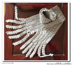 Crochet cachecol de Ouro!