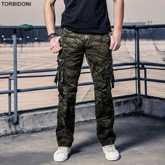 36494fe850d2 Size 29 40 Men s Cargo Pants Casual Men Camouflage Long Trousers Multi  Pockets Work Pants Overall Male Combat Large Pantalones-in Casual Pants  from Men s ...