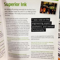 #testimonials from yours truly #superiorink #printing  #screenprinting #design #fashion