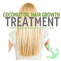 Get your hair to grow faster and healthier with a coconut oil and egg conditioning treatment. 6 tbsp coconut oil and two eggs. Mix and saturate hair. Leave in for 30+ min. Rinse out. Can use gentle shampoo if feels too oily.