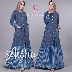Modest Dresses, Nice Dresses, Casual Dresses, Abaya Fashion, Fashion Dresses, Moslem Fashion, Modele Hijab, Abaya Designs, Muslim Dress