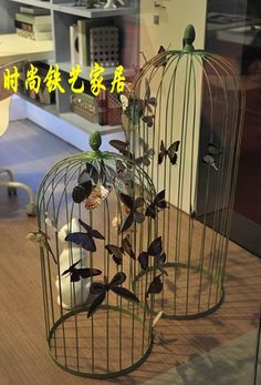 Antique Wrought Iron Bird Cage | bird cage flower wrought iron bird cage hangings flower hanging bird ...