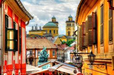 Rooftop scene,Eger, Hungary - my favourite Hungarian wine comes from here.