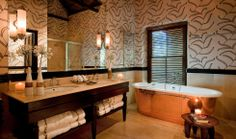 Stunning luxury bathroom at Bushmans Kloof Wilderness Retreat in Cape Town, South Africa Copper Bath, Visit South Africa, Luxury Accommodation, Beautiful Hotels, Hotels And Resorts, Luxury Hotels, Beautiful Bathrooms, Hotel Offers, Wilderness