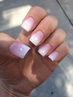 Nails by Hana... Pink and white ombre SNS - Yelp                                                                                                                                                                                 More