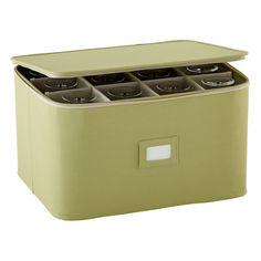 Green Stemware Storage Case