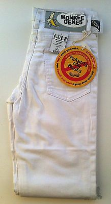 New - Womens Monkee Genes White Sateen Skinny Jeans Size 8 or 10 - RRP £60.00