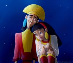Kuzco and Malina in a Whole New Groove kind of like a Whole New World of Aladdin and Jasmine