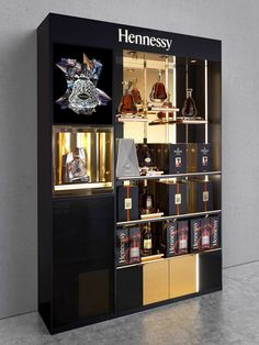 Labvert is a Vienna-based Architecture and Design studio, developing and enhancing established brands in the luxury segment. Bottle Display, Wine Display, Pop Display, Display Ideas, Wine Shop Interior, Retail Architecture, Architecture Design, Alcohol Store, Bar Counter Design