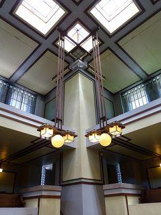 Unity Temple, Oak Park. 1905-9. Frank Lloyd Wright