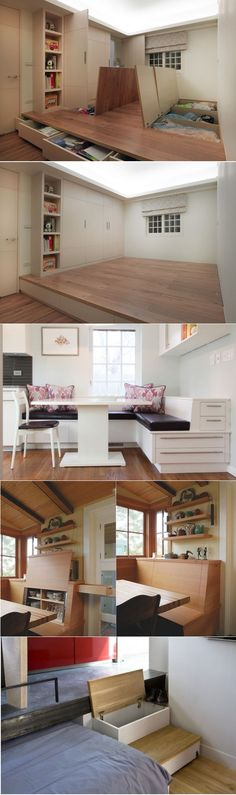 Ingenious Storage Spaces For a Small Home #storage