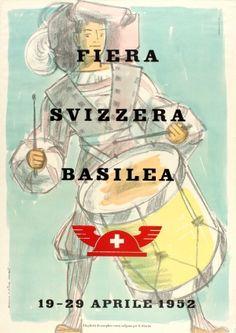 Basel Swiss Fair 1952 - original vintage poster by Hans Peter Hort listed on AntikBar.co.uk