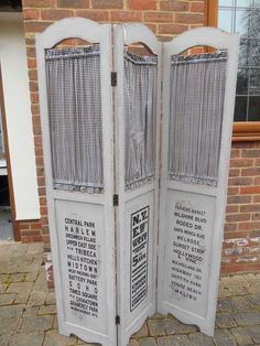 Merveilleux SHABBY CHIC PAINTED 3 PANEL WOOD FOLDING PRIVACY SCREEN ROOM DIVIDER  PARTITION | EBay