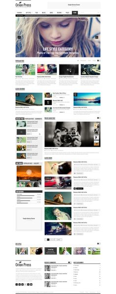 Orion Press – Blog & Magazine Template by Tran Mau Tri Tam, via Behance