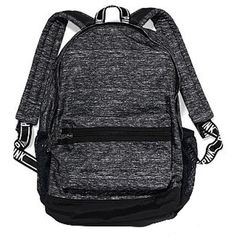 Victoria's Secret PINK Campus Backpack Gray featuring polyvore fashion bags backpacks victoria secret bag victoria's secret grey bag knapsack bags rucksack bag